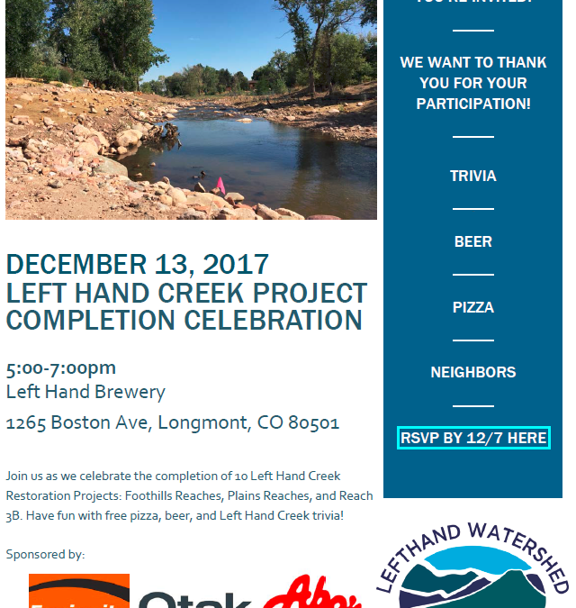 Left Hand Creek Project Completion Celebration