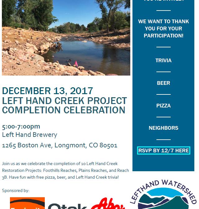 Left Hand Creek Project Completion Celebration